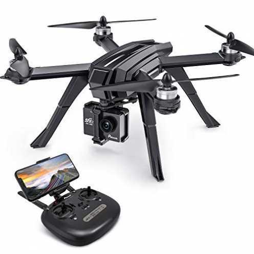 nachhaltigPotensic GPS Drohne mit 2K Kamera, WiFi FPV RC Quadrocopter, Dual GPS, Live Übertragung... ökologisch