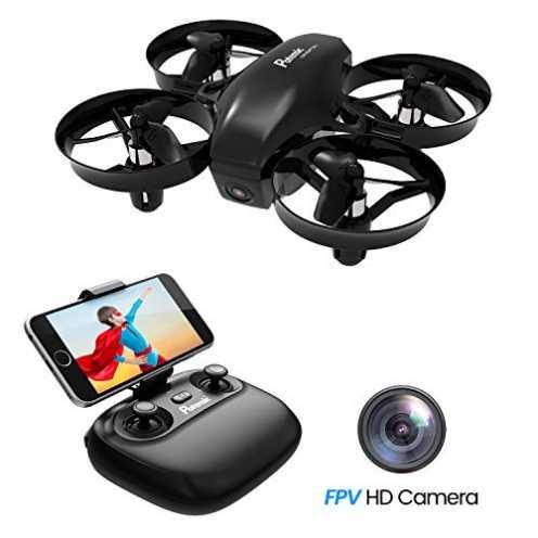 nachhaltigPotensic Mini Drohne mit Kamera Dual Akkus RC Quadrocopter Drohne 2.4Ghz FPV Live Übert... ökologisch