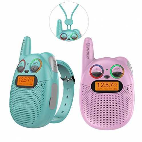 nachhaltig Wiederaufladbare Uhren Walkie Talkies Watch für Kinder mit FM, PMR, 2-Meilen-Reichweite... ökologisch