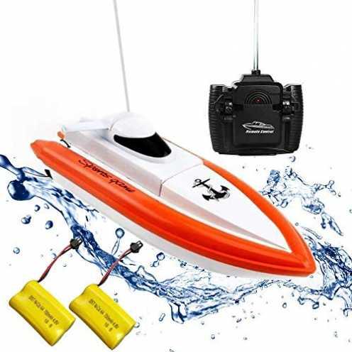 nachhaltig Rabing Ferngesteuertes Boot RC Boot für Pools und Seen - HY800 Rennboote 2, 4 GHz 15 km... ökologisch