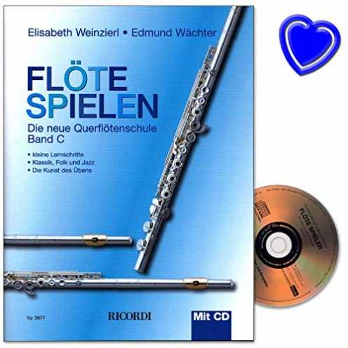nachhaltig Flöte spielen Band C - neue Querflötenschule von Elisabeth Weinzierl und Edmund Wächter mit CD und bunter herzförmige... ökologisch