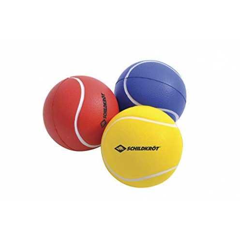 nachhaltig Schildkröt Soft Bälle, 3er Set (gelb, rot, blau), Ø7cm, weicher PU-Schaum, guter Absprung, für Beachball, Beachtennis... ökologisch