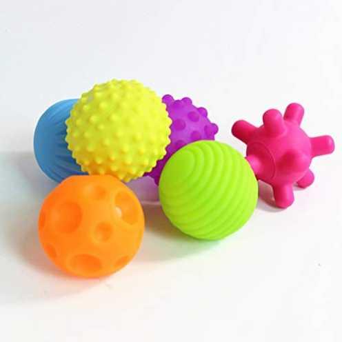 nachhaltig Schimer Super Durable 6 Pack Sensory Balls, Multi-Color, Sensory Ball Regenbogen, Natur... ökologisch
