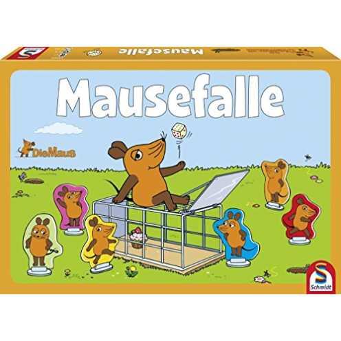 nachhaltig Schmidt Spiele 40505 Maus, Mausefalle, Kinderspiel, bunt ökologisch