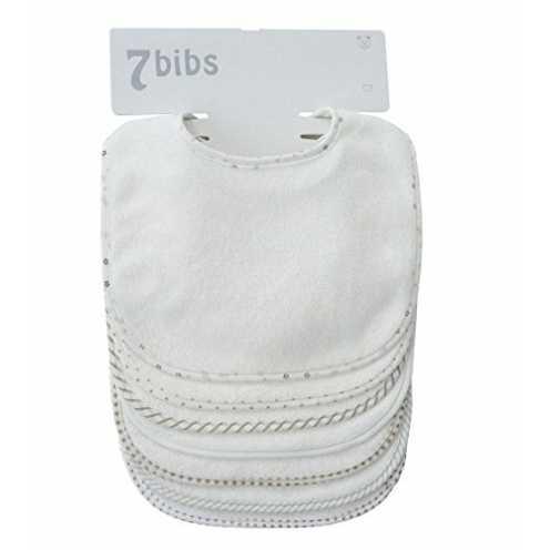 nachhaltig Doppellagige Sabberlätzchen für Babys, Baumwolle, weich, saugfähig, 7 Stück ökologisch
