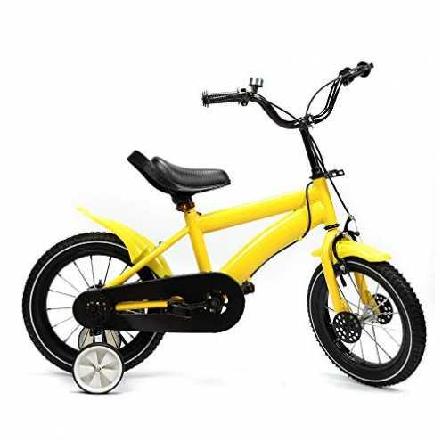 nachhaltig SHIOUCY 14 Zoll Kinderfahrrad Jungen Jungenfahrrad Mädchenfahrrad Kinder Kinderrad Fahrrad Rad Bike (Gelb) ökologisch