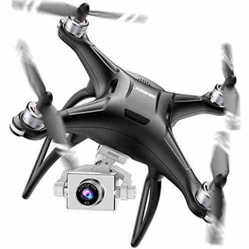 nachhaltig SIMREX X11 GPS Drohne mit 4K HD Kamera 2-Achsen selbststabilisierender Gimbal 5G WiFi F... ökologisch