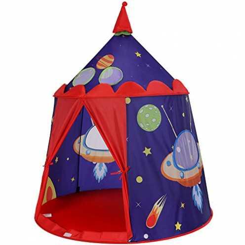 nachhaltig SONGMICS Spielzelt, Prinzenschloss Zelt für Jungs Kleinkinder, Spielhaus für innen und ... ökologisch