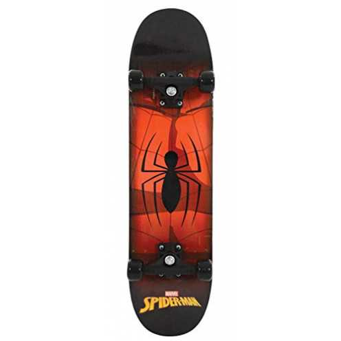 l merchandise</li><li>Features cool Spiderman graphics</li><li>Fully printed deck and griptape</li><li>Deck size approx: 79cm x 20cm (31- x 8-)</li><li>Double kicktail 7 ply maple