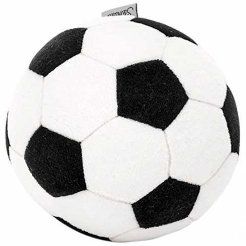 nachhaltig Sterntaler Ball, Fußball-Design, Alter: Kinder ab 0 Jahren, Schwarz/Weiß ökologisch