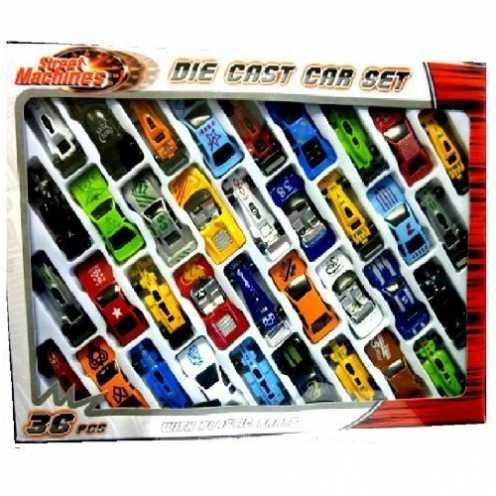 nachhaltig 36 pc Druckguss Fahrzeugmodell gesetzt f1 Cabrio Rennwagen Kinder Spielzeug Spiel geset... ökologisch