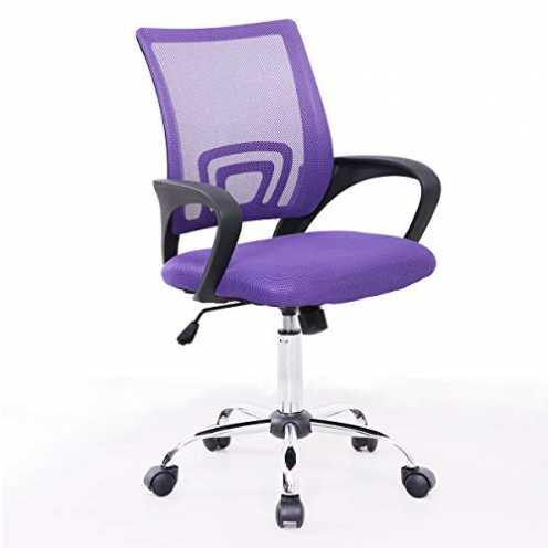 nachhaltig SVITA Kinder Schreibtischstuhl Bürostuhl Netzbezug Drehstuhl Stuhl Schreibtisch (Lila) ökologisch