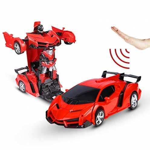 nachhaltig Sylanda Ferngesteuertes Auto Transform Roboter, Wiederaufladbar RC Auto Rennauto mit Fernnedienung Radio Ferngesteuer... ökologisch