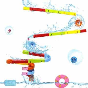 Symiu Badespielzeug Baby Kugelbahn Wasserspielzeug Badespaß Konstruktionsspielzeug mit ...