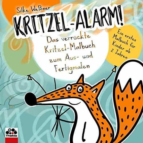 nachhaltig Kritzel-Alarm! Das verrückte Kritzel-Malbuch zum Aus- und Fertigmalen - Ein erstes Kritzelbuch für Kinder ab 2 Jahre ökologisch