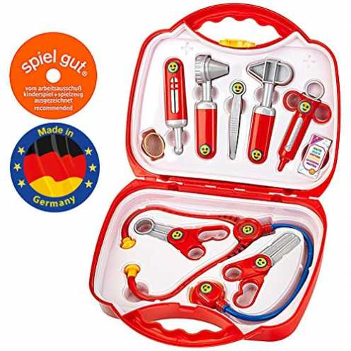 nachhaltig Theo Klein 4383 - Arztkoffer 10-teilig, 27cm, Spielzeug ökologisch