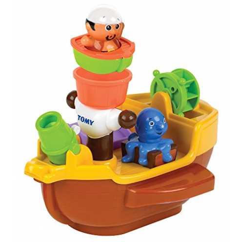 """nachhaltig TOMY Spielzeug Schiff """"Piratenschiff"""" Mehrfarbig, Hochwertiges Kleinkindspielzeug, Pira... ökologisch"""