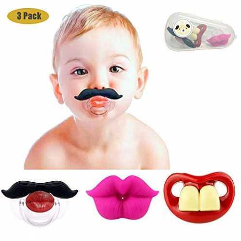 nachhaltig Lustige Baby-Schnurrbart-Schnuller, Maberry weiches Silikon Netter Schnuller-Entwurf mit Kusslippe ... ökologisch