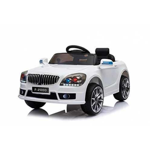 nachhaltig Toyas Kinder Elektro Auto Fahrzeug Elektroauto Kinderelektroauto Kinderauto mit Fernbedienung Weiß Weiss F-2000 ökologisch