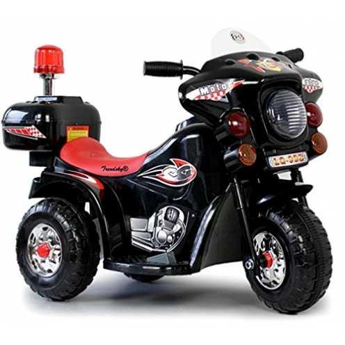 nachhaltig Toyas Kinder Motorrad Elektrofahrzeug Polizei Bike Kindermotorrad Elektromotorrad (Schw... ökologisch