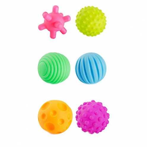 nachhaltig Trifycore Baby Sensory Balls 6 PC-Baby-Hand fangen Massagekugeln mit BB Ton Bunte Grasp... ökologisch