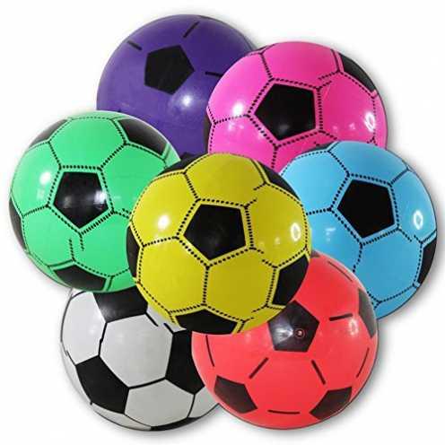 nachhaltig 4 x Kunststoffball Fussball Ball 20 cm ökologisch