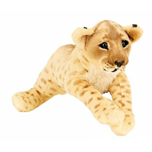 nachhaltig Löwe Baby liegend Plüschtier ca. 60 cm Kuscheltier Softtier Raubkatze Stofftier ökologisch