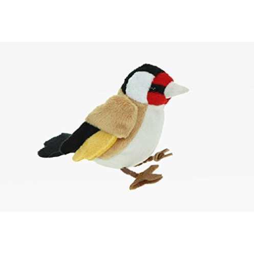nachhaltig Stofftier Stieglitz 12 cm, Kuscheltier Plüschtier Vogel Vögel Gartenvogel ökologisch