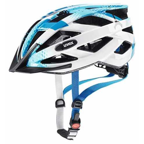 nachhaltig uvex Unisex Jugend, air wing Fahrradhelm, blue white, 52-57 cm ökologisch