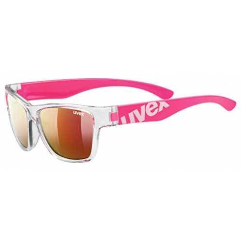 nachhaltig uvex Unisex Jugend, sportstyle 508 Sonnenbrille, clear pink, one size ökologisch