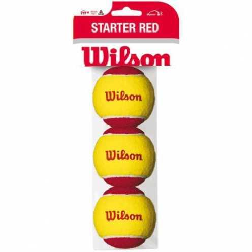 nachhaltig Wilson Tennisbälle Starter Red für Kinder, gelb/rot, 3er Pack, WRT137001 ökologisch