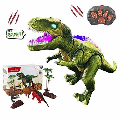 nachhaltig WISHTIME Fernbedienung Dinosaurier ElectricToy Kinder RC Tierspielzeug LED Leuchten Din... ökologisch