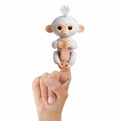 nachhaltig Fingerlings Glitzer Äffchen weiß Sugar 3763 interaktives Spielzeug, reagiert auf Geräusche, Bewegungen und Berührungen ökologisch