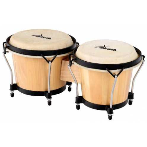 "nachhaltig XDrum Bongo Club Standard 6"" Macho und 7"" Hembra Holz natur Percussion Holzbongo Naturfelle Trommel ökologisch"