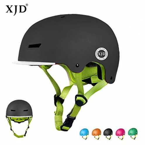 nachhaltig XJD Kinder Jugend Fahrradhelm Beschützer 2.0 CE-Zertifizierung für Sport Skateboard Motorrad 3-13 Alt (Schwarz S) ökologisch