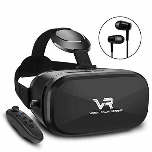 nachhaltig 3D VR Brille, YEMENREN HD Virtual Reality 3D VR Headset mit Bluetooth Controller, für A... ökologisch