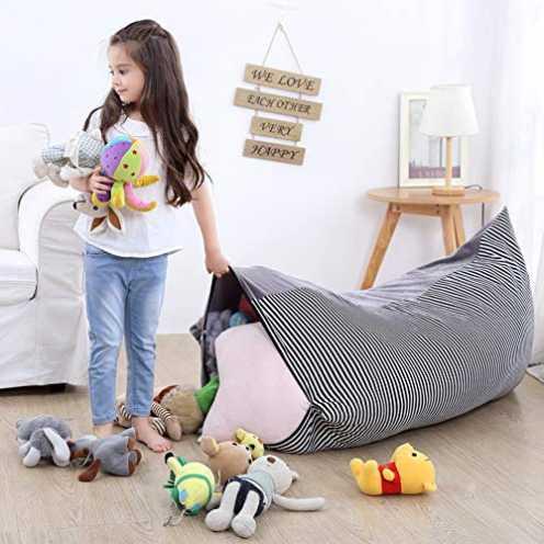 nachhaltig YHLVE Spielzeug-Aufbewahrungstasche, Stofftier-Organizer/weiche Bequeme Abdeckung, die gemütliche Liege, Bett für Spi... ökologisch