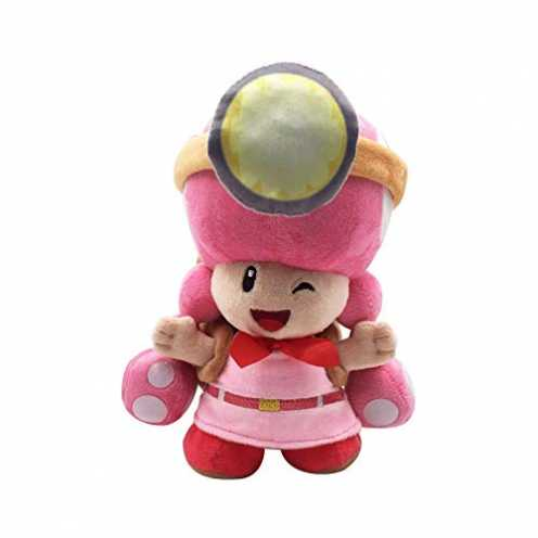 nachhaltig Yijinbo Super Mario Bros Captain Toadette Plüschtier Stofftier mit Rucksack Toad Treasure Tracker 20,3 cm ökologisch