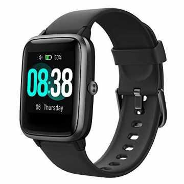 YONMIG Smartwatch, Fitness Armband Tracker Voller Touch Screen Uhr Wasserdicht IP68 Arm...