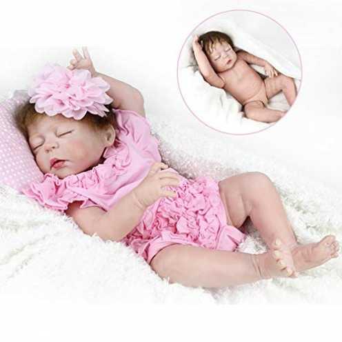 nachhaltig Zaoyun 22 inch / 55 cmSilikon-Babypuppe,Ganzkörper Silikon Reborn Spielzeug Baby realistische Puppe Spielzeug für Kin... ökologisch