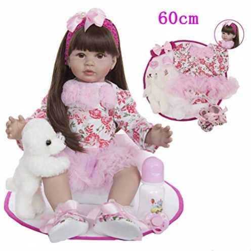 nachhaltig Zaoyun Baby Prinzessin 24 Zoll 60cm Lebensecht Silikon Vinyl Babys Günstig Reborn Puppe Doll Kinder Mädchen Magnetism... ökologisch
