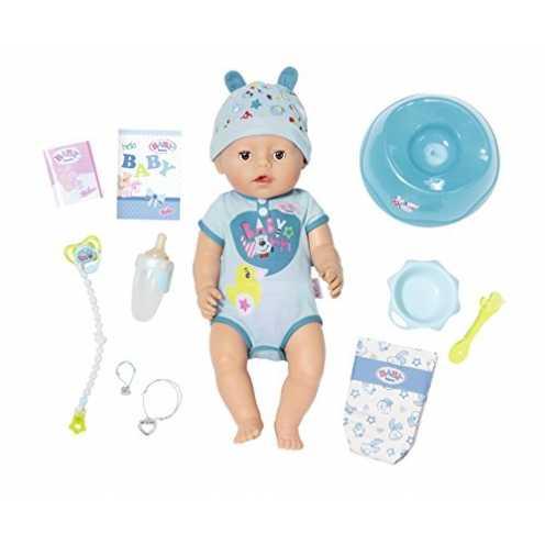 nachhaltig Zapf Creation 824375 BABY Born Soft Touch Boy Brown Eyes Puppe 43 cm, blau ökologisch