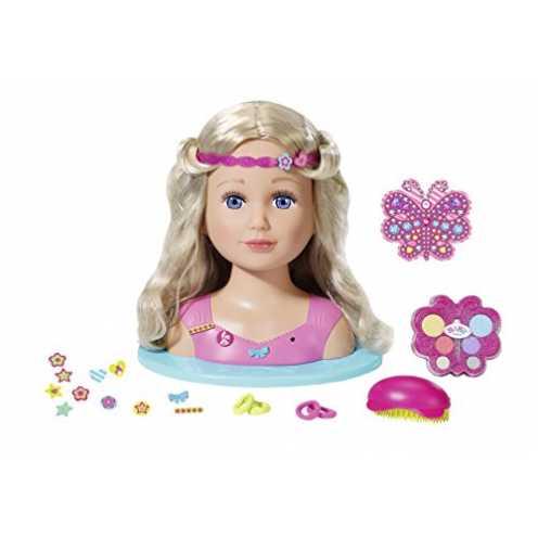 """nachhaltig Zapf Creation 824788"""" Baby Born Sister Styling Head Puppe, bunt ökologisch"""